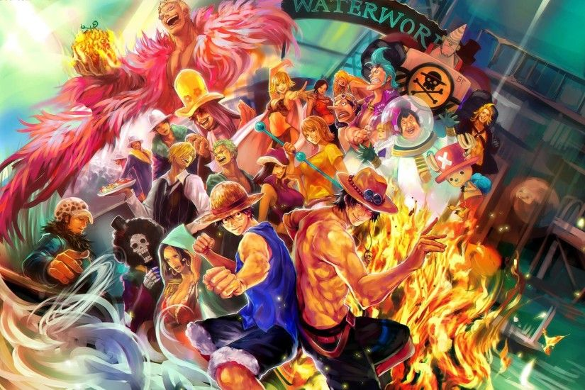 One Piece Anime Characters Luffy Ace Wallpaper HD 1044