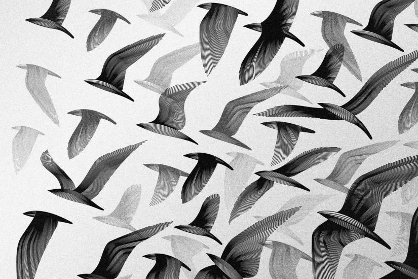 Flock Of Birds Black And White 232 black and white flock