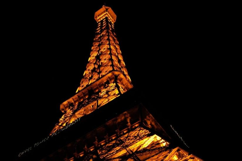 Eiffel Tower France Night Time Paris ...