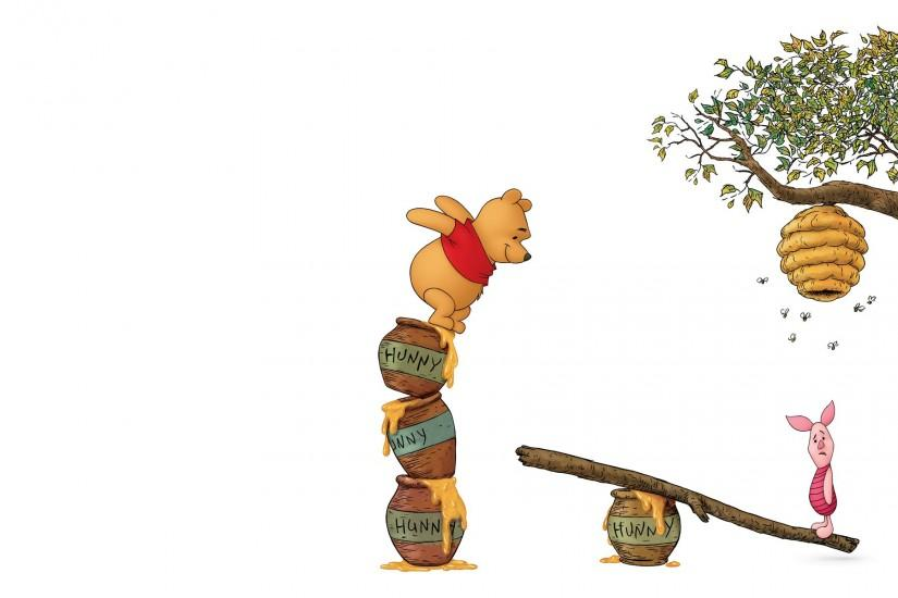 Pooh bear and piglet from Winnie the Pooh wallpaper