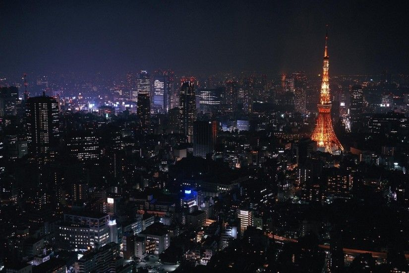 Preview wallpaper tokyo, japan, city, night, lights 1920x1080