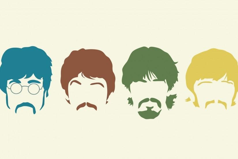 Preview wallpaper the beatles, silhouette, haircut, mustache, members  2560x1440