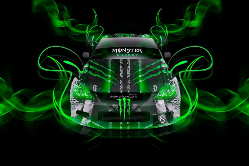 Monster Energy Toyota Altezza Green Neon Plastic Car