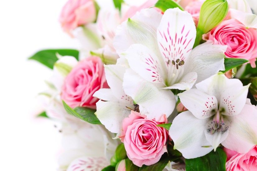 Pink Flowers Bouquet HD Wallpaper