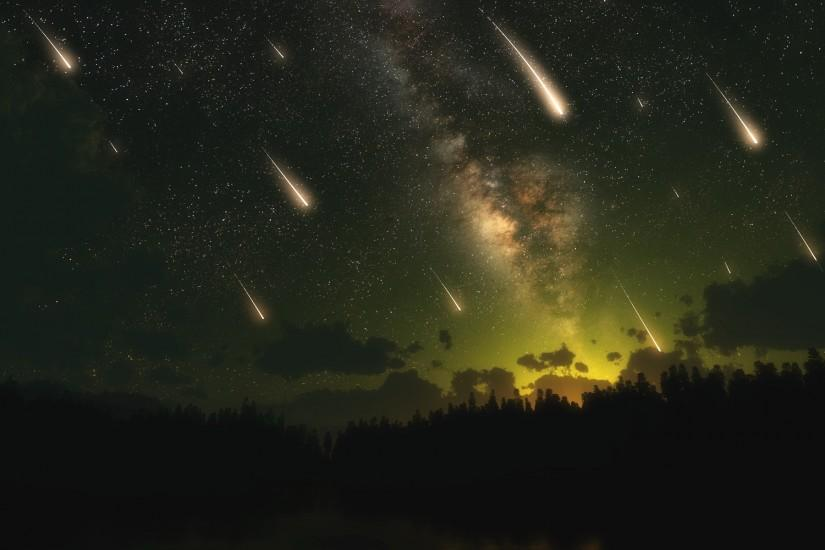 space, dual, cosmos, meteorite, skyscapes, meteor shower,