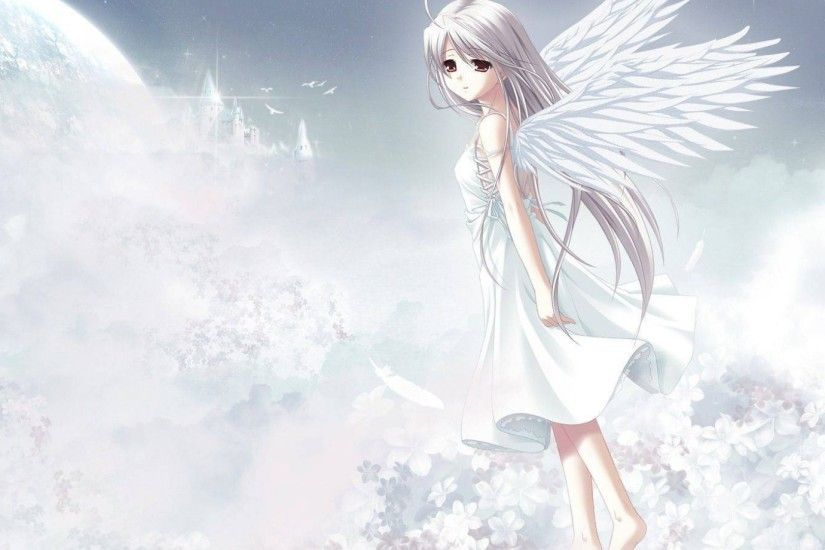 Cute Anime Angel Girl HD Wallpaper - Stylish HD Wallpapers