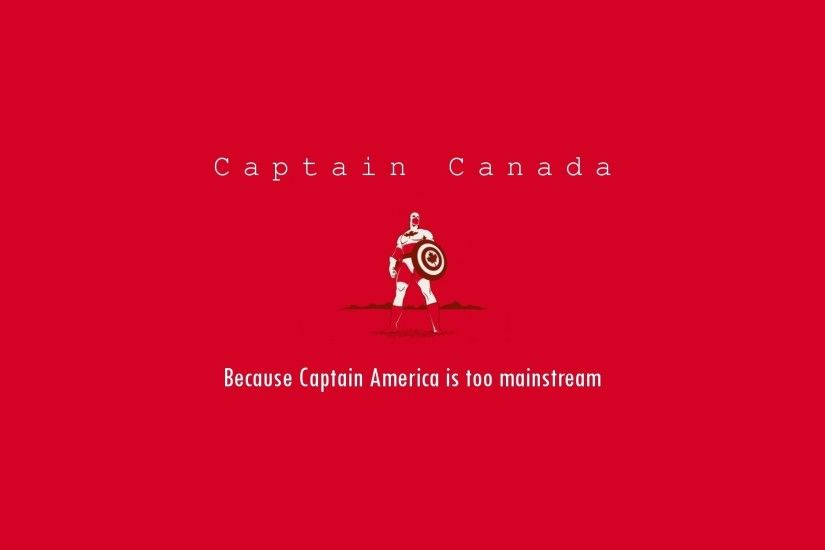 Funny heroes typography canada hipster red background wallpaper