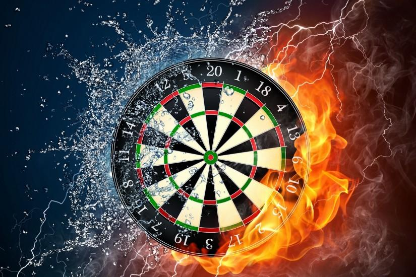 Dartboard Game Creative Wallpaper