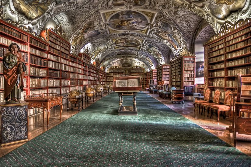 Preview wallpaper strahov monastery, prague, hdr 1920x1080