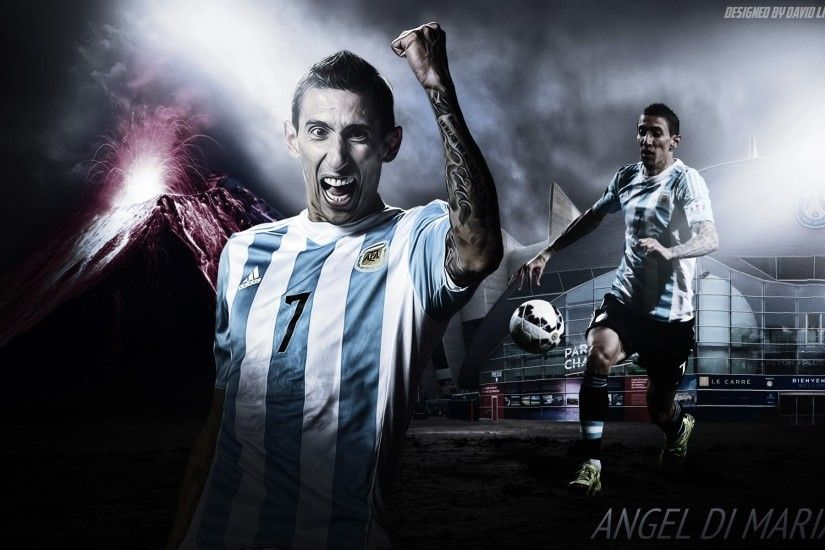 How to Make Sports Wallpaper Designs on Photoshop Angel Di Maria - YouTube