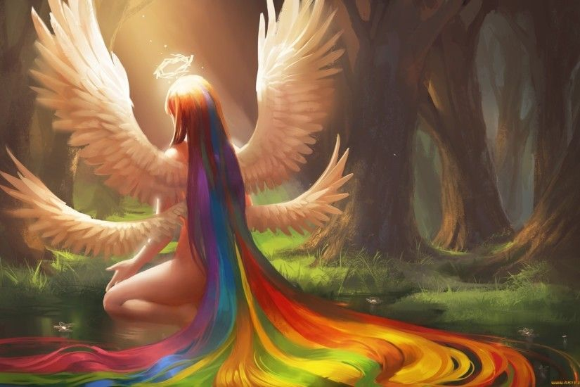 Rainbow Angel wallpapers and stock photos