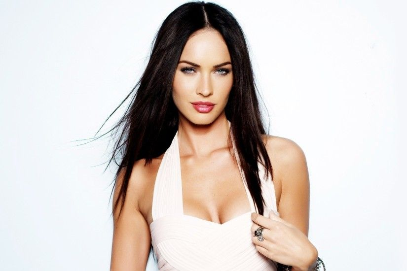 Actress Megan Fox White Background Women