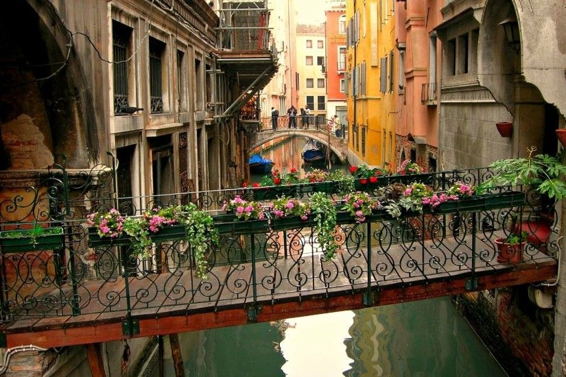 cityscape, Architecture, Town, Building, Venice, Italy, Water, Bridge,  House, Window, Flowers, Boat, Reflection, Canal Wallpapers HD / Desktop and  Mobile ...