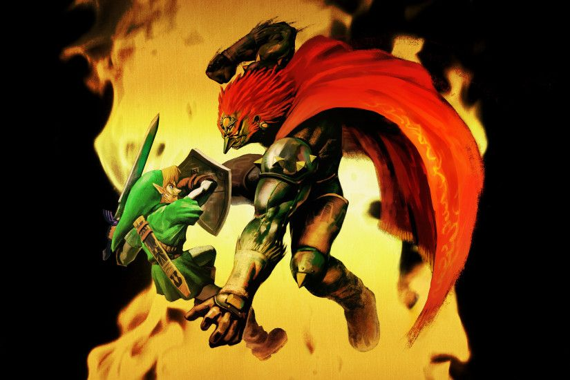 ... Link against Ganondorf in Ocarina of Time ...