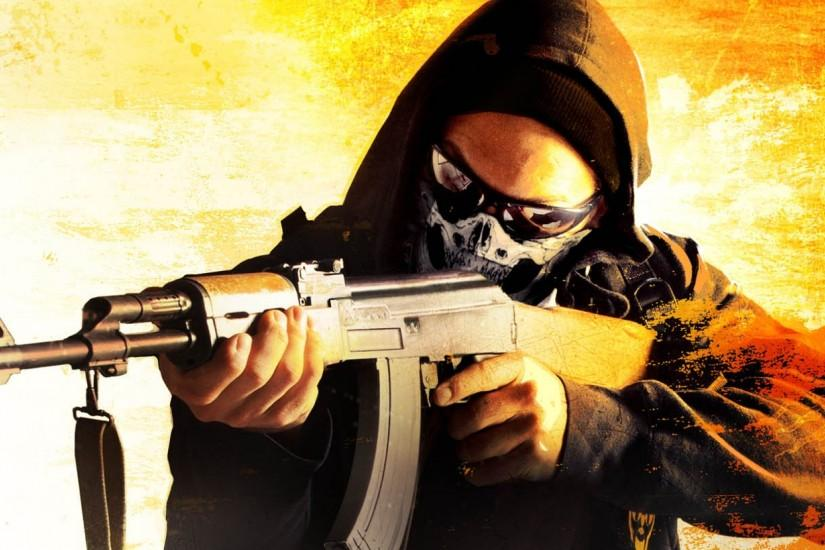 Preview wallpaper counter-strike global offensive, art, anarchist, game  card, steam