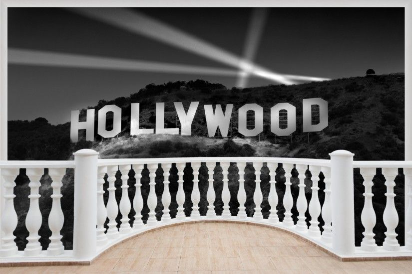Details about Huge 3D Balcony Hollywood Sign Wall Stickers Film Decal  Wallpaper 383