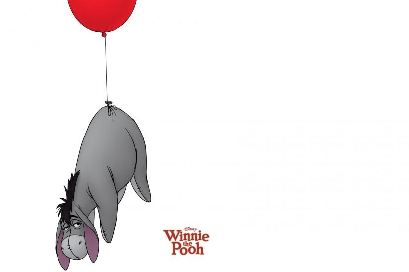 Eeyore the donkey being pulled up by a balloon from Winnie the Pooh  wallpaper