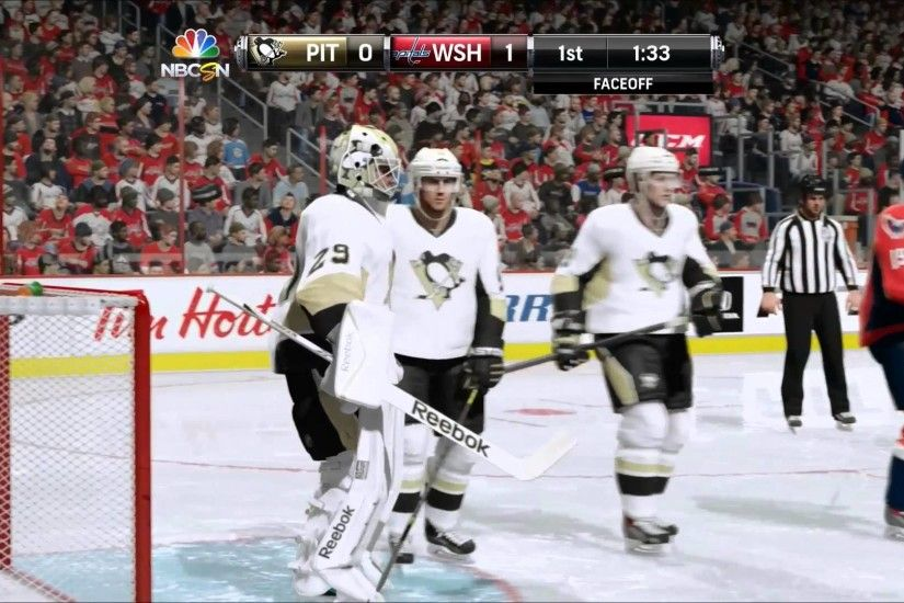 NHL 15 PS4 Gameplay Pittsburgh Penguins @ Washington Capitals - YouTube