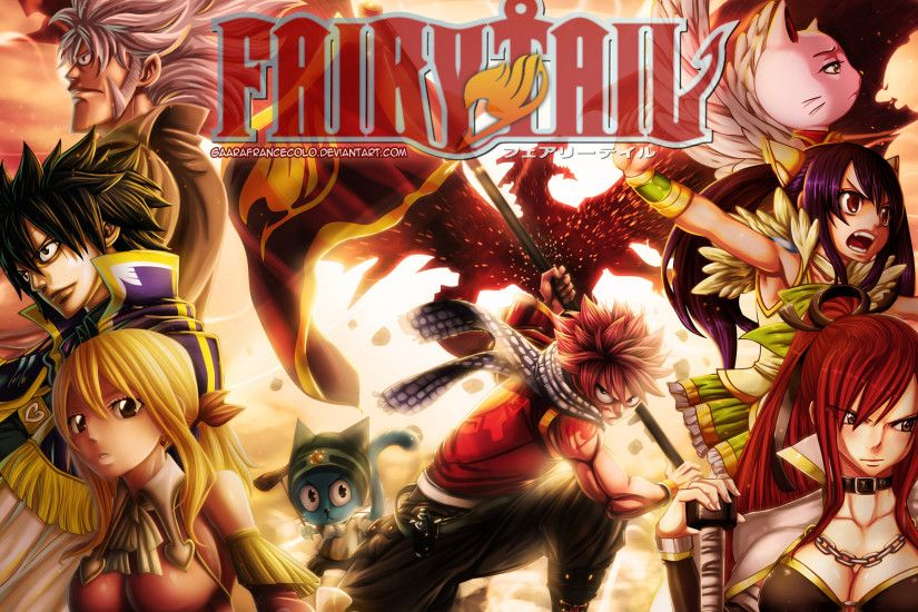 fairy tail guild members anime hd wallpaper