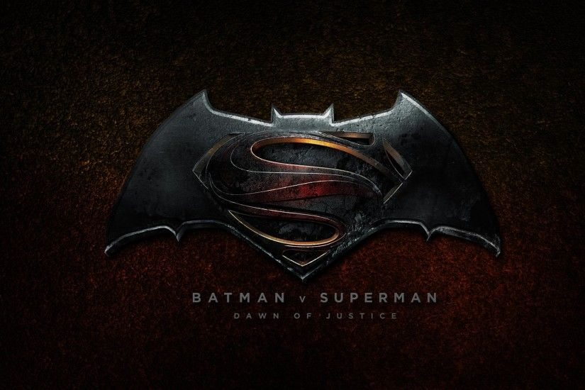 Batman vs Superman: Dawn of Justice 2016 Logo Wallpaper HD