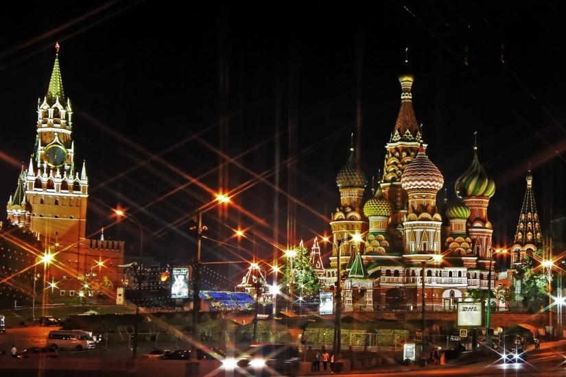 Preview wallpaper moscow, russia, red square, light, evening 1920x1080