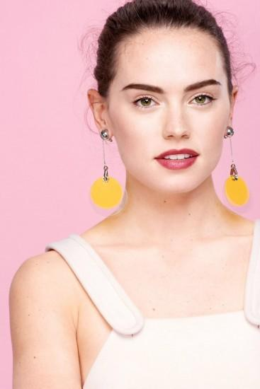 Daisy Ridley for Glamour UK January 2015 - Prada Resort 2016 earrings