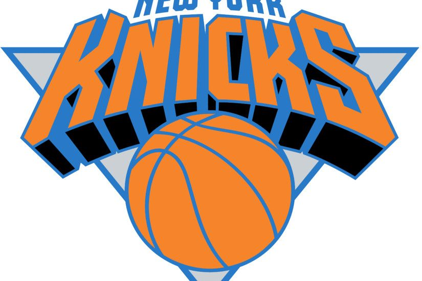 NEW YORK KNICKS Basketball Nba logo wallpaper over white