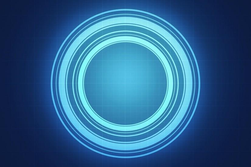 abstract blue circle light wallpaper background