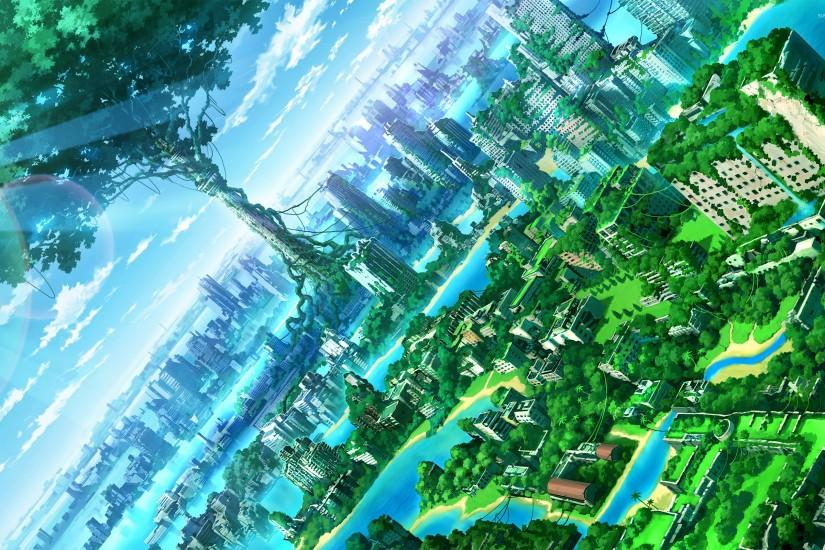 Green city [2] wallpaper 2560x1600 jpg