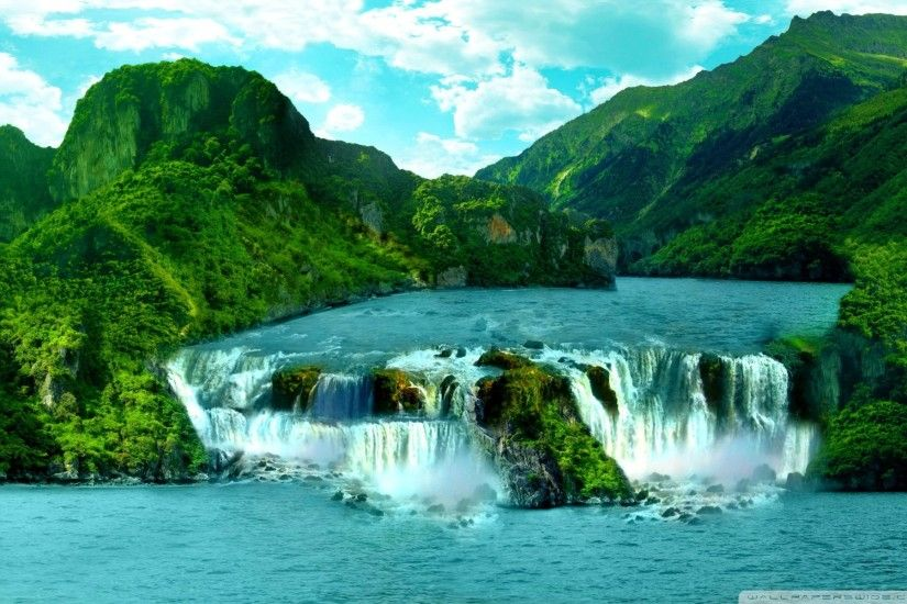 Tropical Waterfall HD Wide Wallpaper for Widescreen
