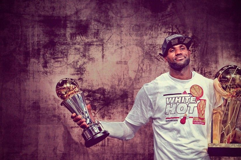 Lebron James and Championship Trophy, iPhone Wallpaper, Facebook .