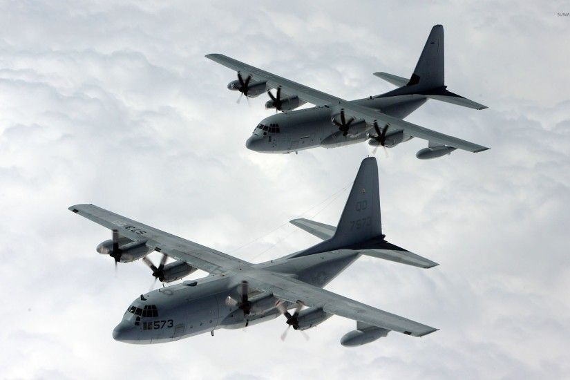 ... US Air Force. 142. Lockheed C-130 Hercules on top of the fuzzy clouds  wallpaper 1920x1200 jpg