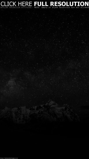 Starry Night Sky Mountain Nature Bw Dark Android wallpaper - Android HD  wallpapers
