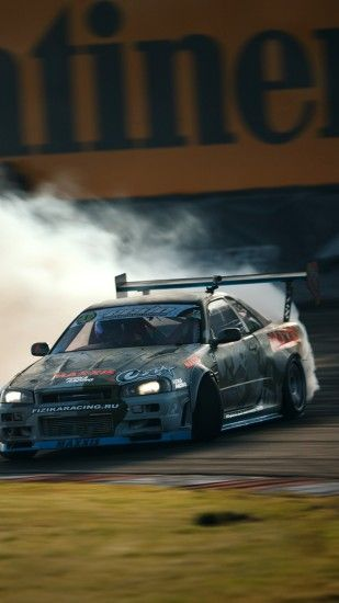 Preview wallpaper nissan, skyline, gtr, drift, r34 1440x2560