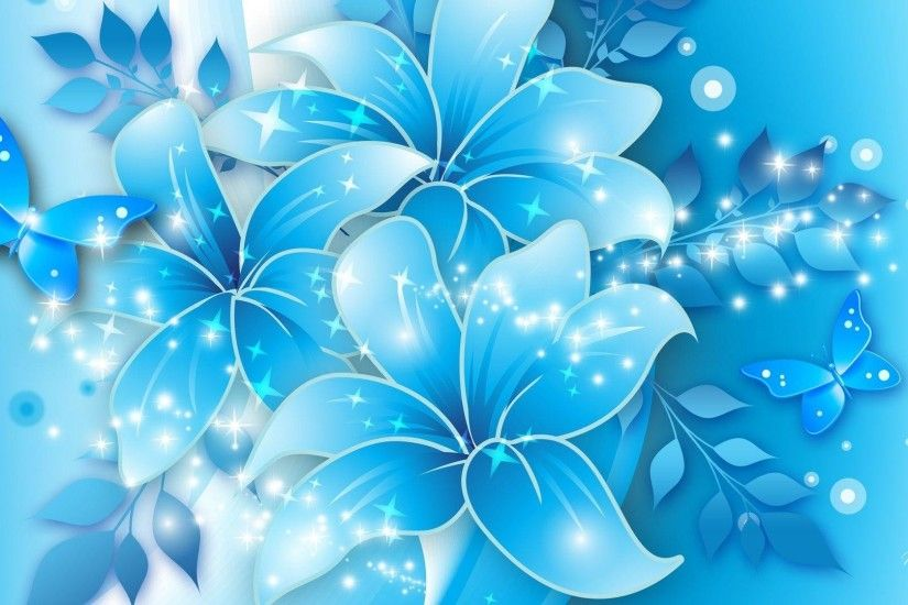 Blue Floral Background 22152 #8801295