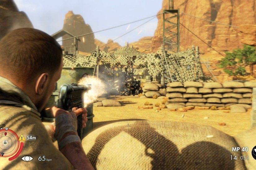 Sniper Elite III: Afrika PlayStation 4 Using German MP-40 for close combat