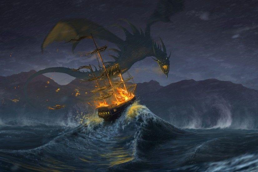 Badass Dragon Wallpaper Desktop Background