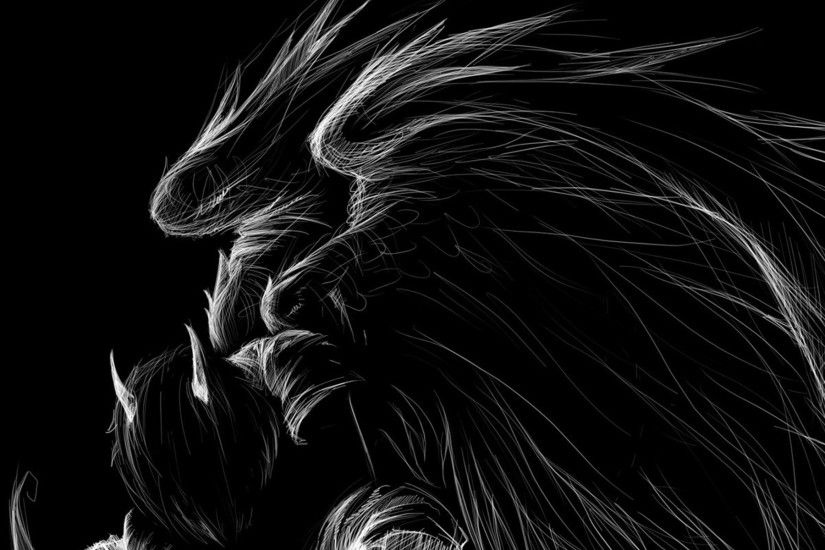 Dark - Demon Sketch Dark Fallen Angel Angel Wallpaper