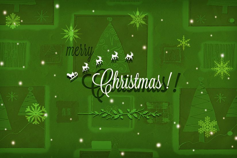 Merry Christmas Green WallPaper HD - http://imashon.com/w/