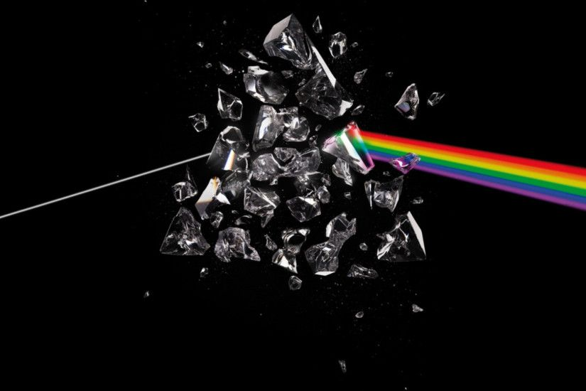 Preview wallpaper pink floyd, debris, rainbow, graphics, background  1920x1080