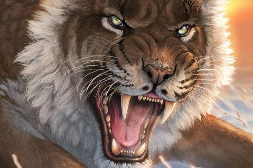 Saber Tooth Tiger HD Desktop Wallpapers for Widescreen, High .