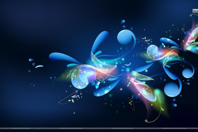 Blue Cool Sparkly Abstract powerpoint backgrounds templates