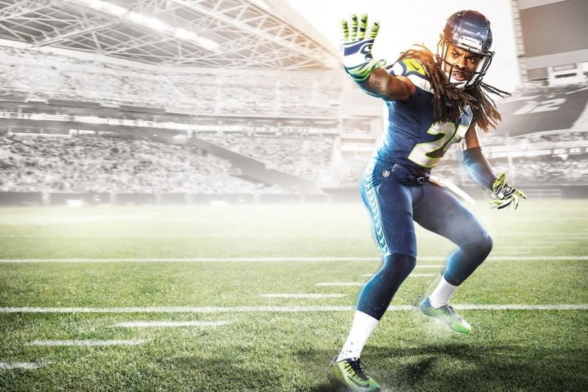 Madden Football Nfl Action Sports Strategy Seattle Seahawwks FullHD  Wallpaper