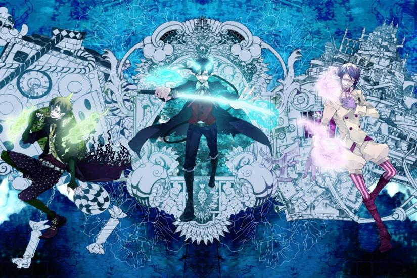 download blue exorcist wallpaper 3000x1509