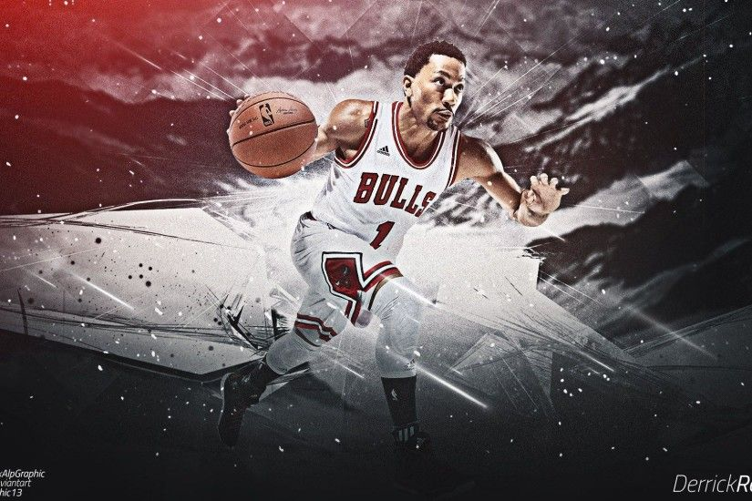 Derrick Rose #1 Chicago Bulls 2015 Wallpaper Wide or HD | Male .