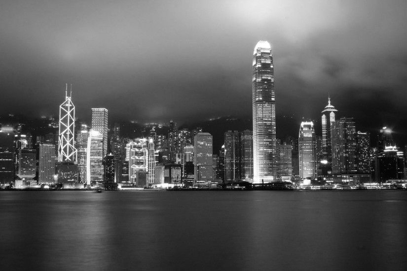 Hong Kong skyline by lazykun Hong Kong skyline by lazykun