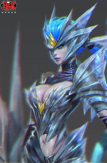 Ice Drake Shyvana Portrait RiotZeronis by Zeronis