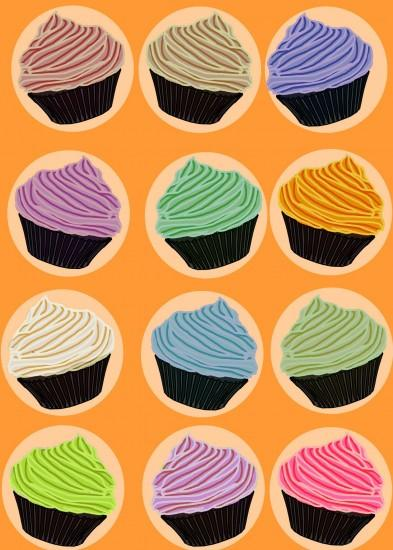 Cupcake Flavors Background