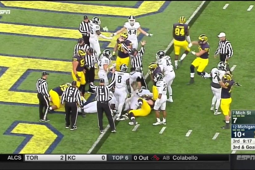 Michigan Wolverines vs Michigan State Spartans 2015 Football Highlights -  YouTube