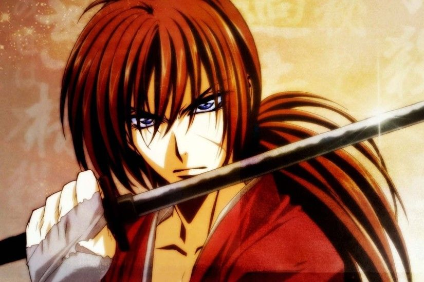 Download now full hd wallpaper kenshin himura samurai x face katana ...